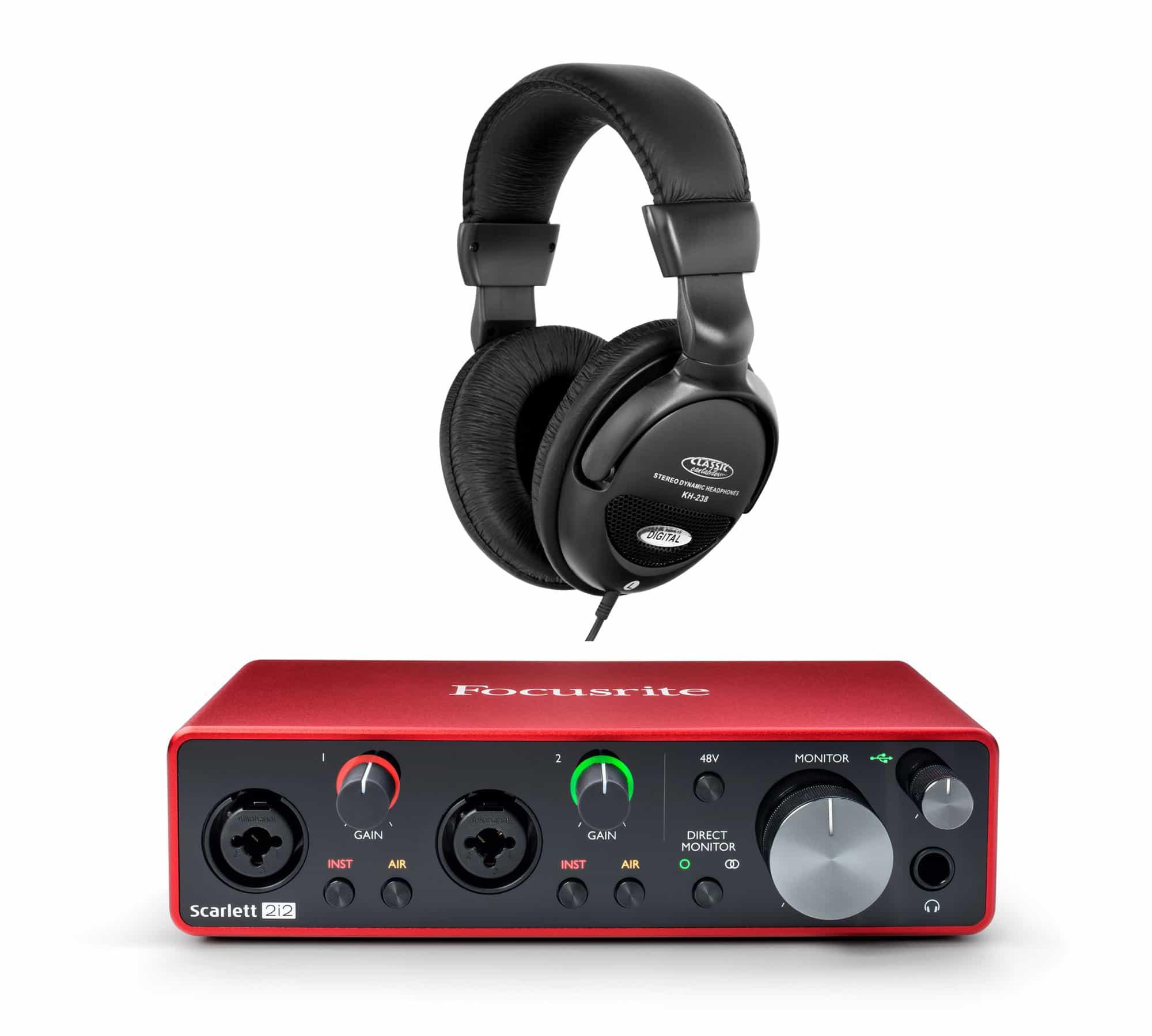 Focusrite Scarlett 2i2 USB Audio Interface Set