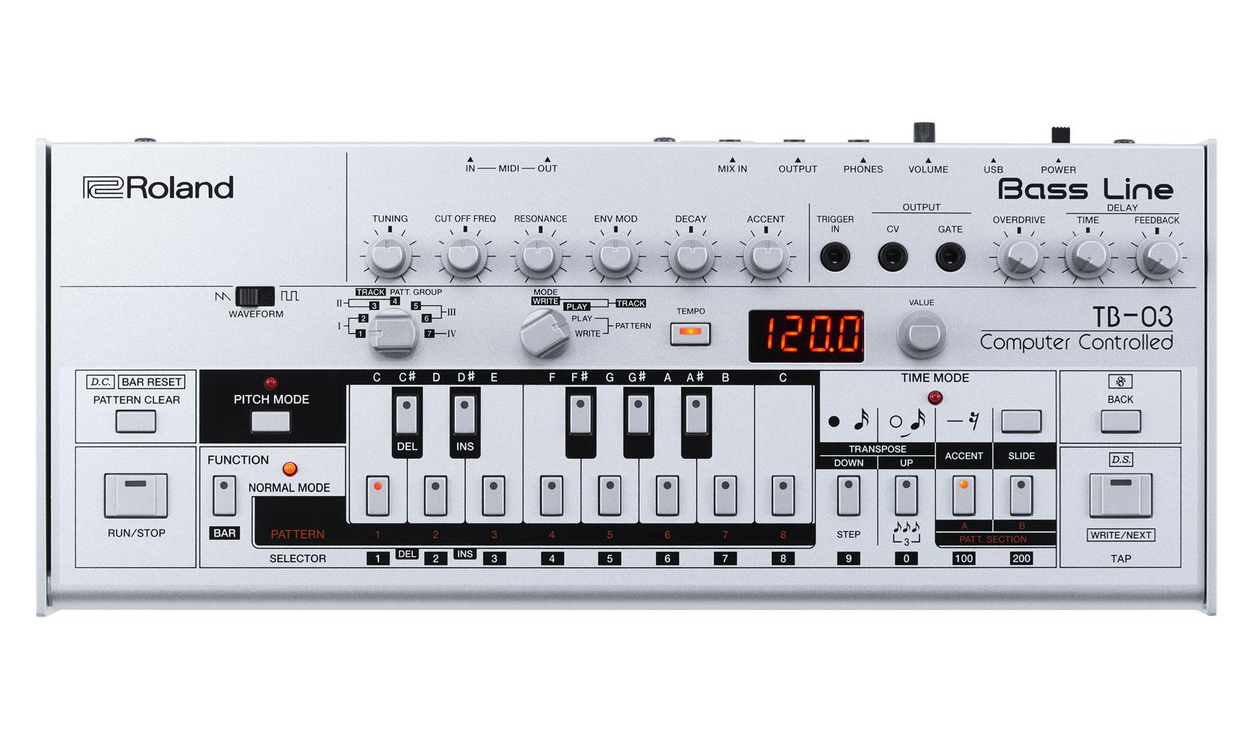 Synthesizer - Roland TB 03 - Onlineshop Musikhaus Kirstein