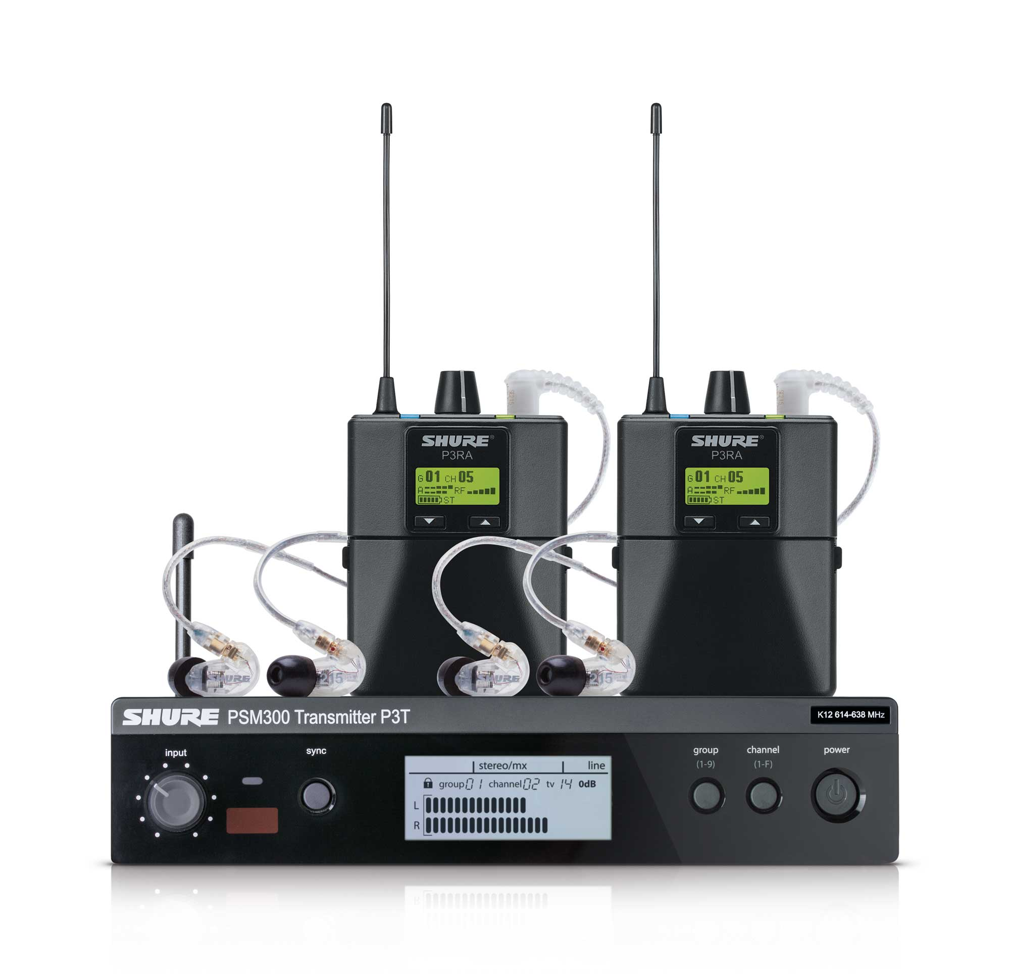 Drahtlossysteme - Shure PSM300 Twinpack Pro S8 In Ear Monitoring - Onlineshop Musikhaus Kirstein