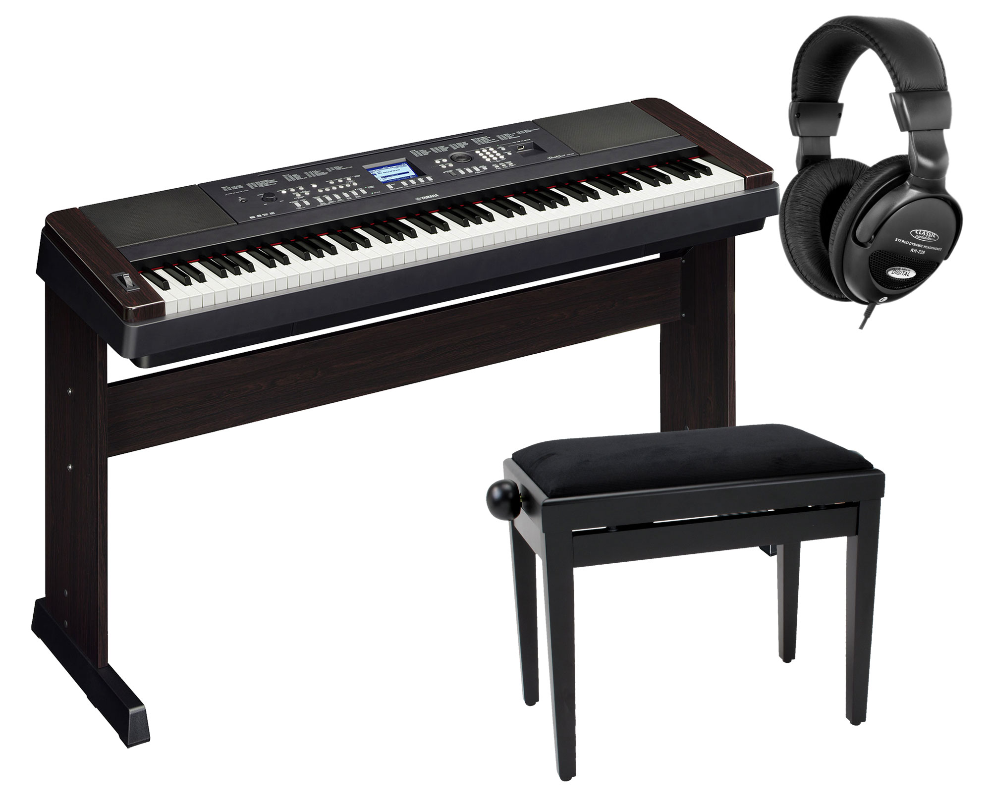 yamaha dgx 650 portable piano schwarz set kirstein music shop. Black Bedroom Furniture Sets. Home Design Ideas