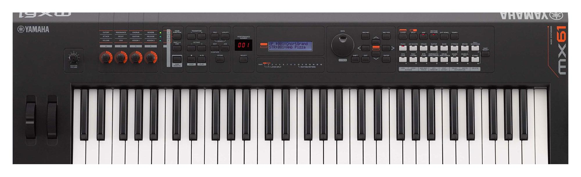 yamaha mx61 v2 music synthesizer schwarz
