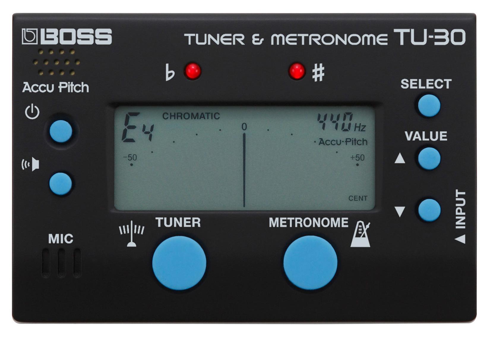 Musikerzubehoer - Boss TU 30 Tuner Metronome - Onlineshop Musikhaus Kirstein