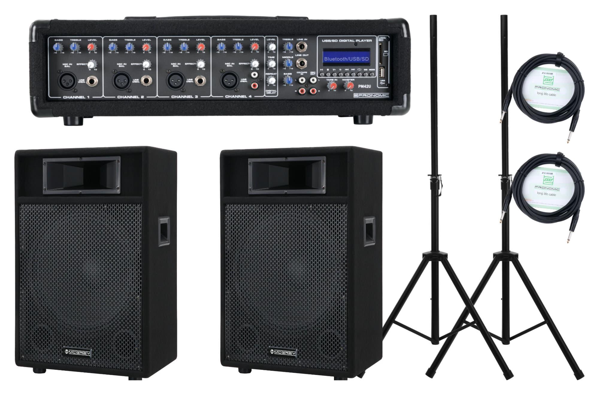 Pronomic PM42 115 StagePower Set Aktivanlage