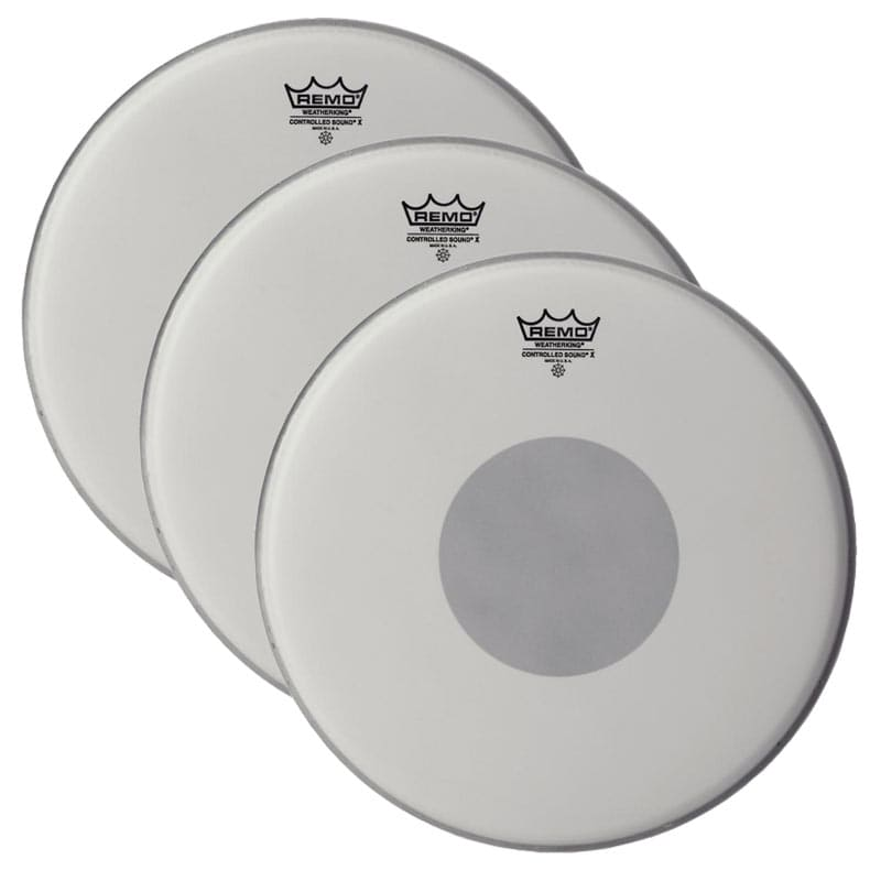 Remo 14' CS X Controlled Sound coated, 3er Set