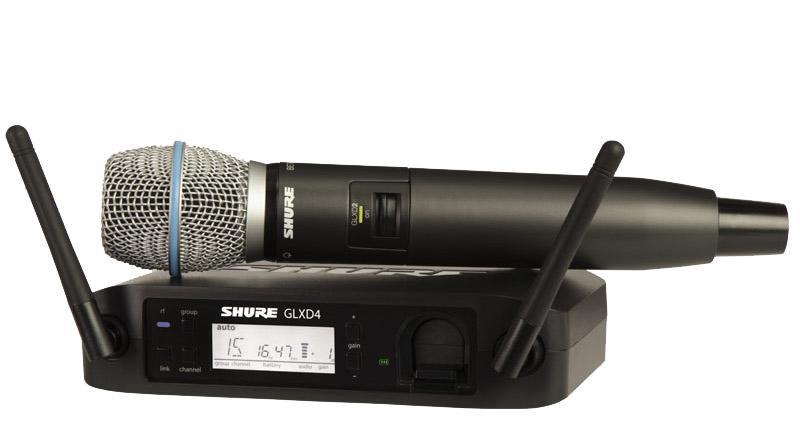 Drahtlossysteme - Shure GLXD24|B87A Z2 Digital Vocal Funksystem - Onlineshop Musikhaus Kirstein