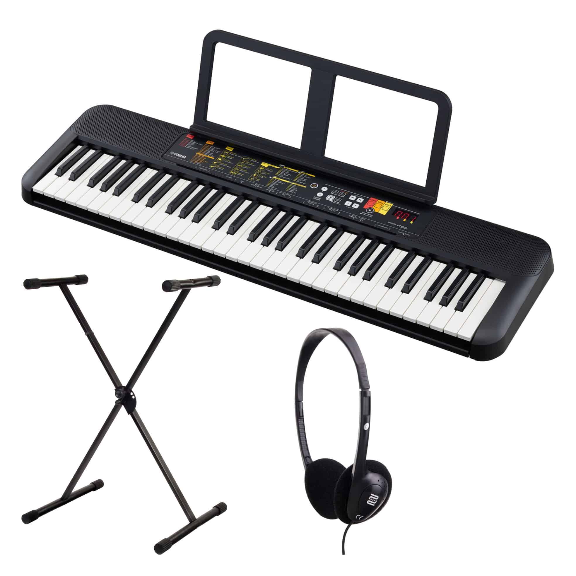 Homekeyboards - Yamaha PSR F52 Keyboard Set inkl. Keyboardständer Kopfhörer - Onlineshop Musikhaus Kirstein