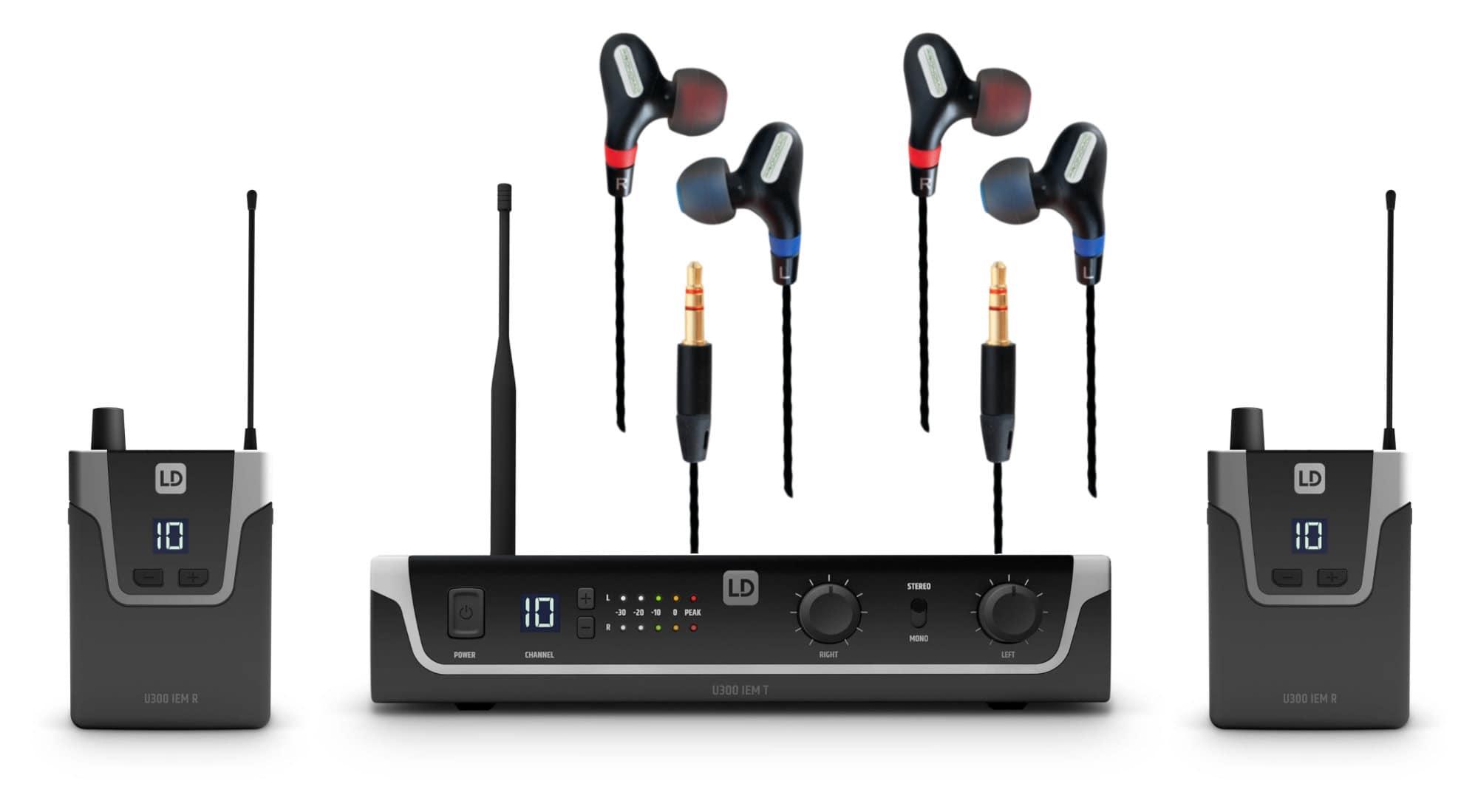 Drahtlossysteme - LD Systems U308 IEM In Ear Monitoring System Doppel Set - Onlineshop Musikhaus Kirstein