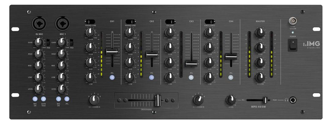 Djmixer - IMG Stageline MPX 44|SW - Onlineshop Musikhaus Kirstein