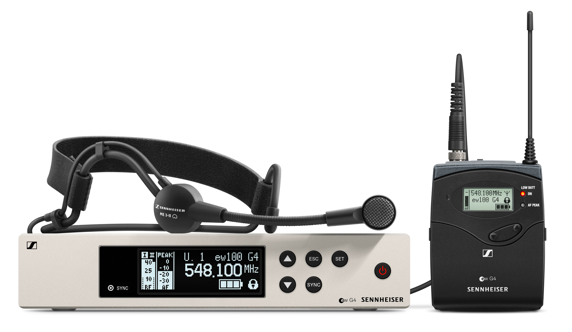 Sennheiser EW 100 G4 ME3 Headset Funkset 1G8