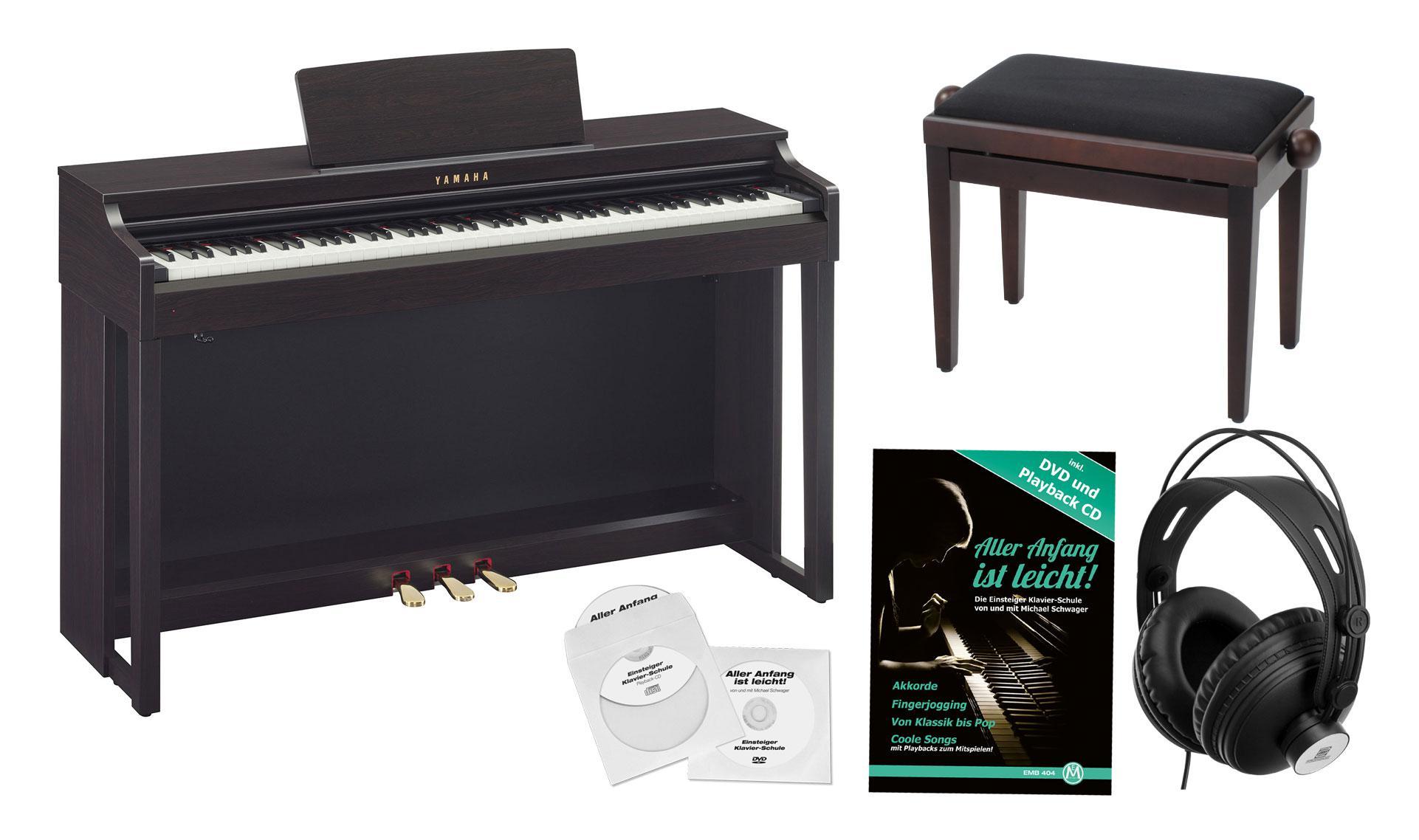 yamaha clp 525 r digitalpiano rosenholz set. Black Bedroom Furniture Sets. Home Design Ideas