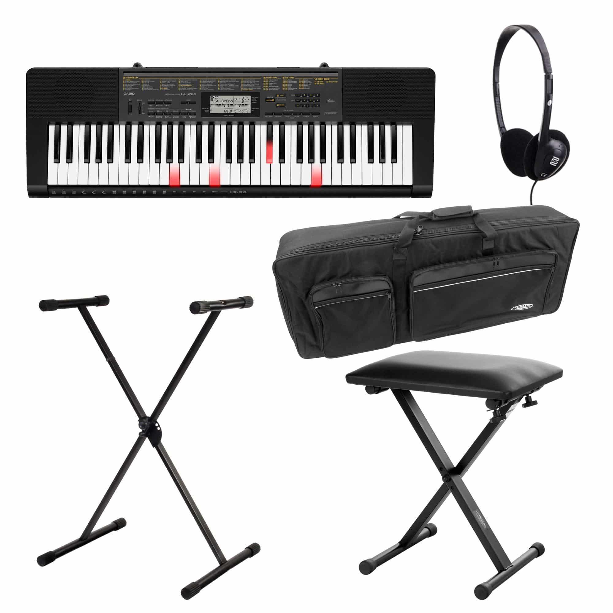Casio LK 265CA Leuchttasten Keyboard Deluxe Set