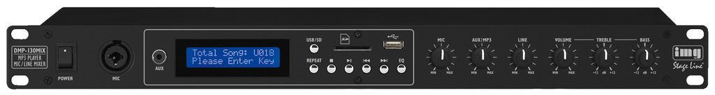 Monacor DMP 130 MIX Audio Spieler|Mixer