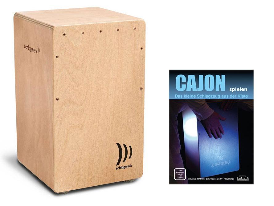 Schlagwerk CP 4005 Cajon la Peru Beech SET inkl. Cajon Basics + CD