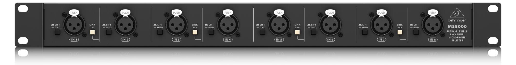 Diboxen - Behringer Ultralink MS8000 Mikrofon Splitter - Onlineshop Musikhaus Kirstein