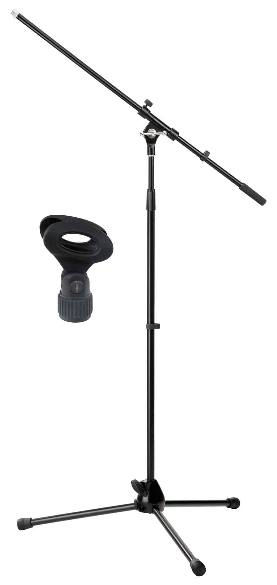 Studiozubehoer - Pronomic MS 15 Pro Mikrofonstativ Schwarz mit Mikrofonklemme - Onlineshop Musikhaus Kirstein