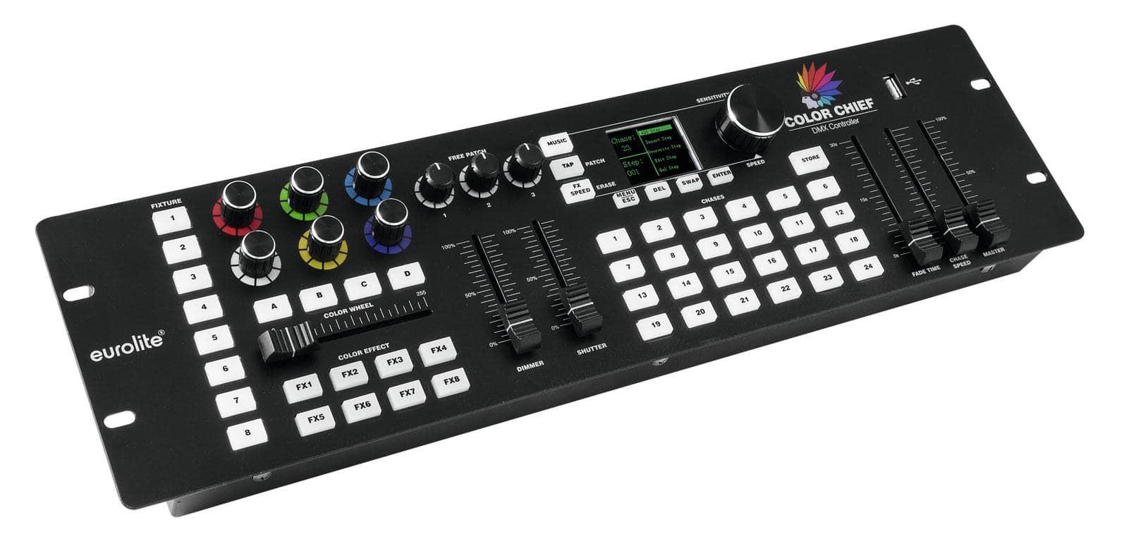 Lichtsteuerung - Eurolite DMX LED Color Chief Controller - Onlineshop Musikhaus Kirstein