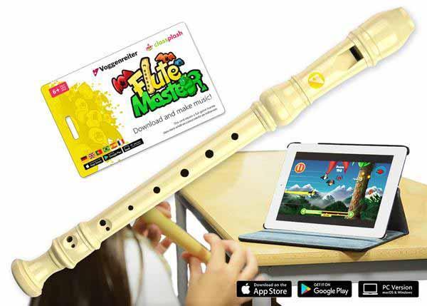 Sonstigeblasinstrumente - Voggenreiter Flute Master mit Blockflöte Deutsch, Kunststoff - Onlineshop Musikhaus Kirstein