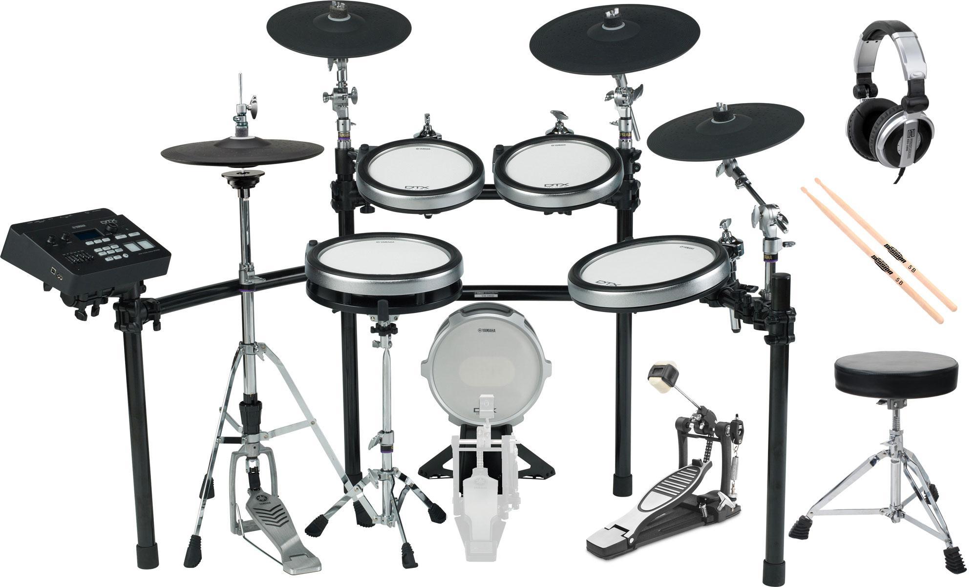 Yamaha DTX760K E Drum Kit SET 1 mit Hocker, Sticks und Kopfhörer