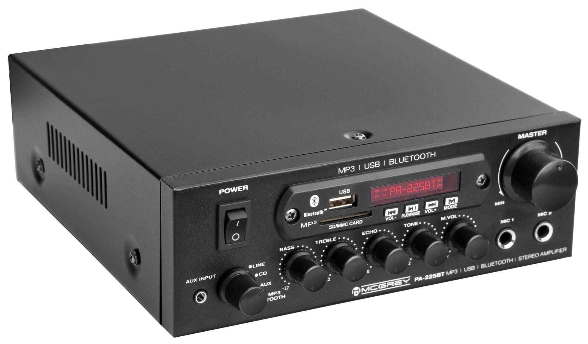 McGrey PA 225BT Bluetooth Endstufe mit USB|MP3 Player Retoure (Zustand akzeptabel)