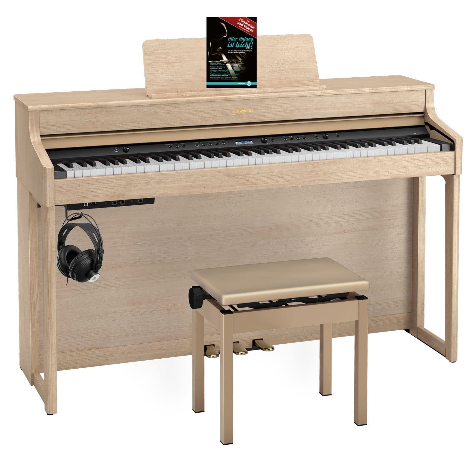 Roland HP702 LA Digitalpiano Set helle Eiche