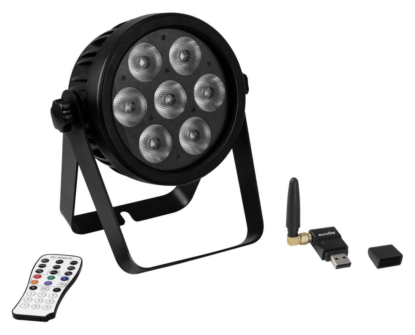 Lichtsets - Eurolite LED 7C 7 Silent Slim Spot QuickDMX Set - Onlineshop Musikhaus Kirstein