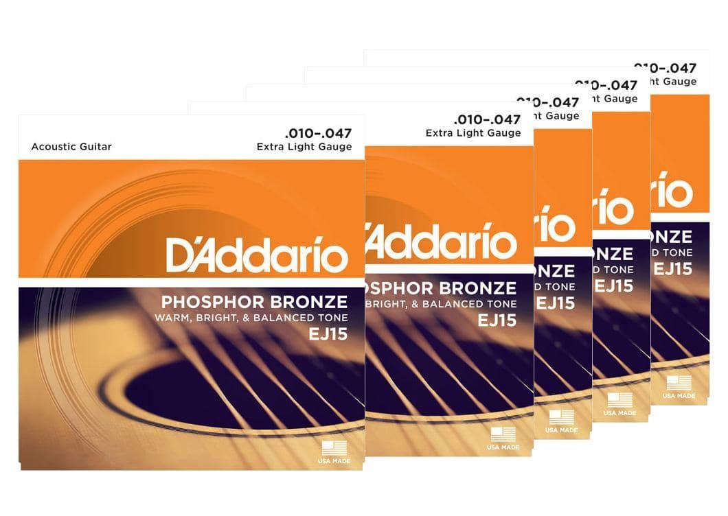 D'Addario EJ15 Extra Light 5er Pack