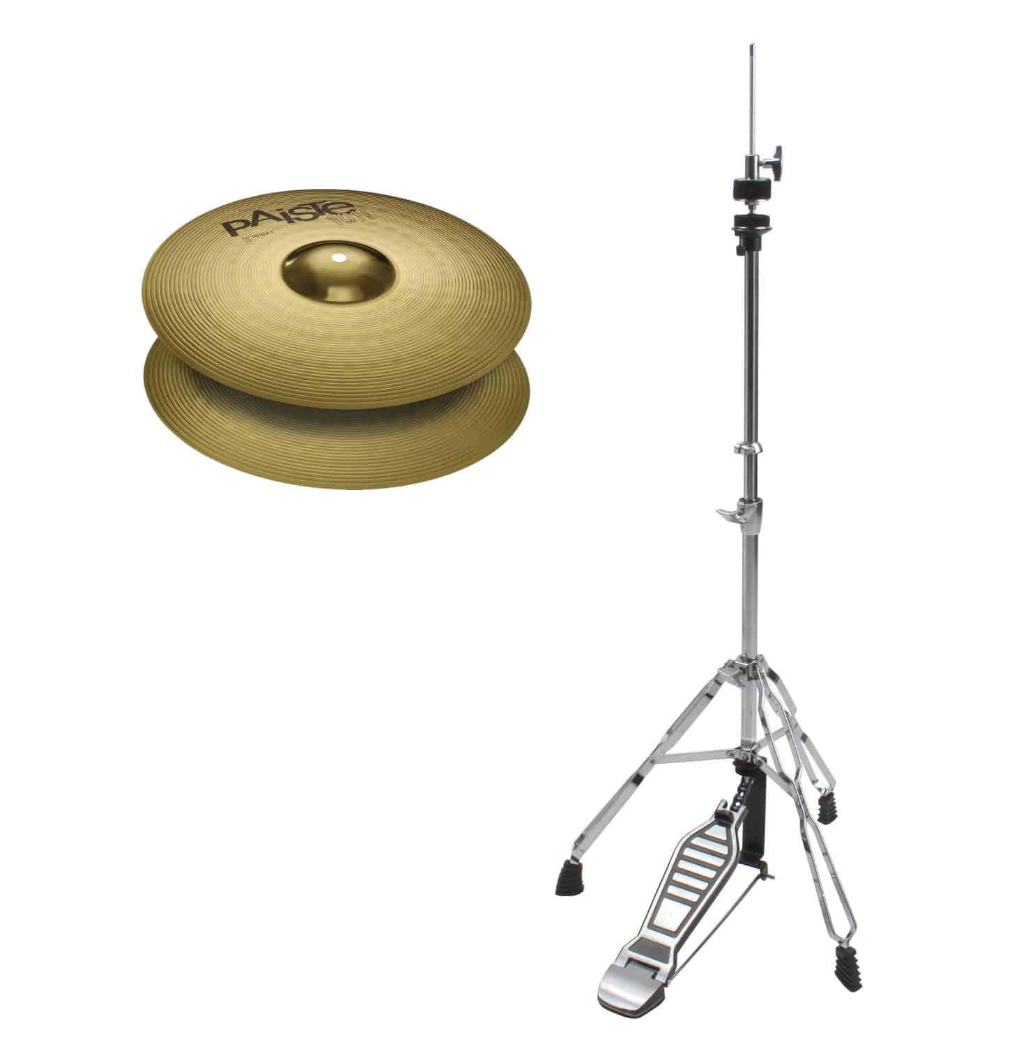 Paiste 101 Brass 14' Hi Hat HiHat Maschine SET