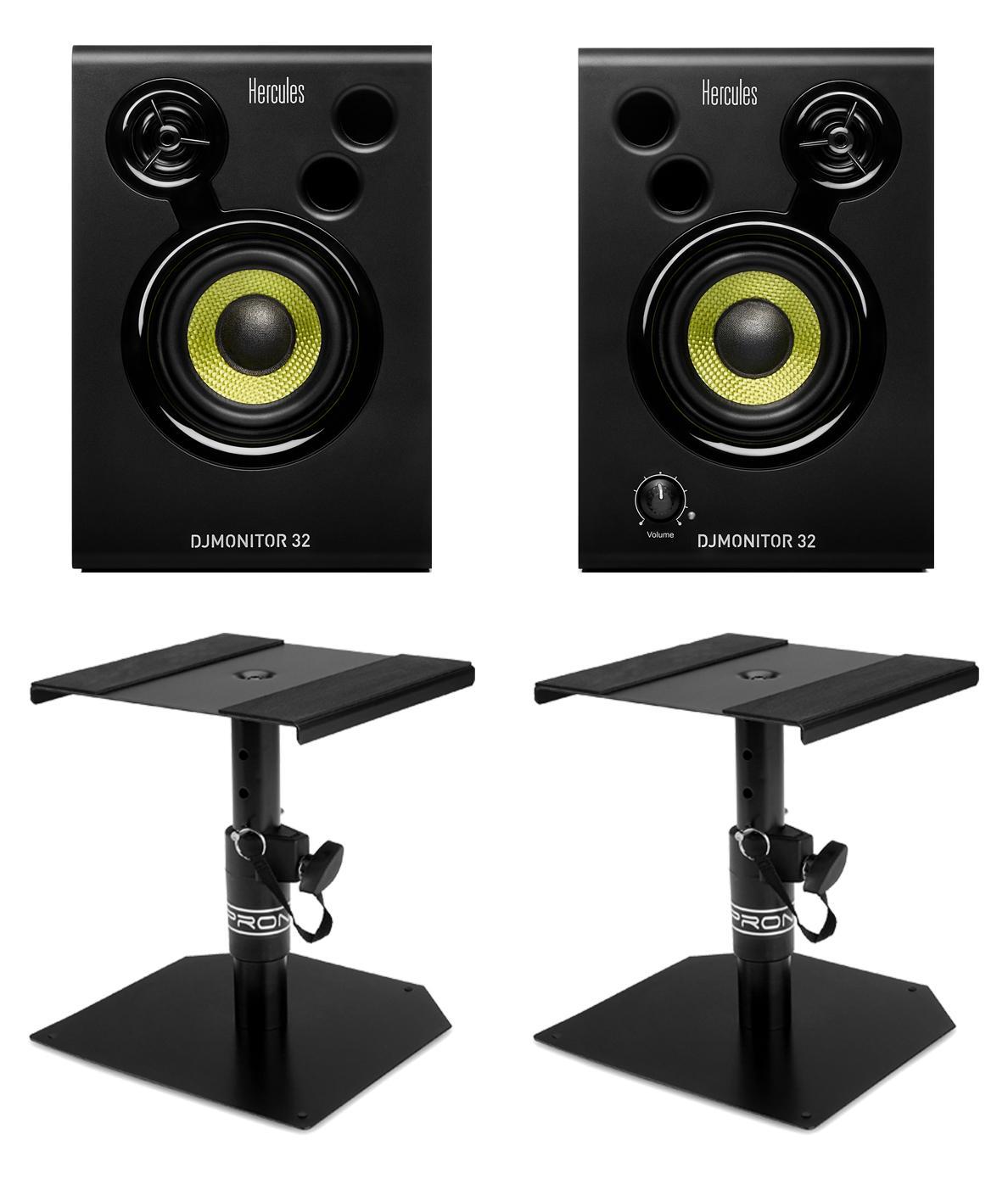 Studiomonitore - Hercules DJMonitor 32 Tischstativ Set - Onlineshop Musikhaus Kirstein