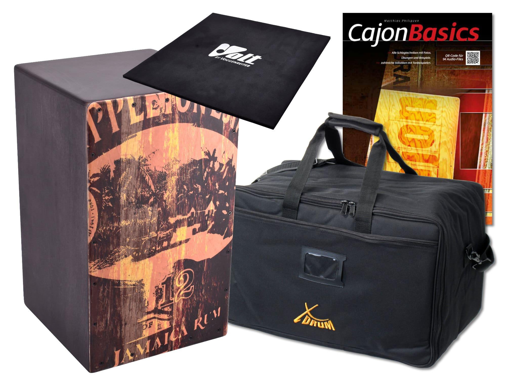 VOLT Cajon 'Jamaica Rum' SET inkl. Tasche