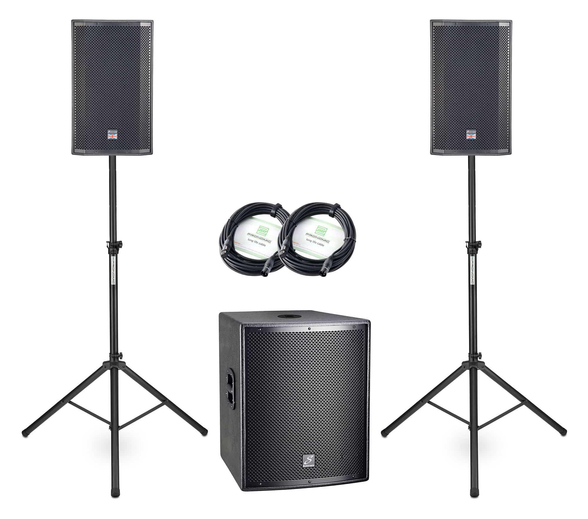 Boxenkomplettanlagen - Studiomaster Ventur 12AP|Drive 15SA 2.1 Set - Onlineshop Musikhaus Kirstein