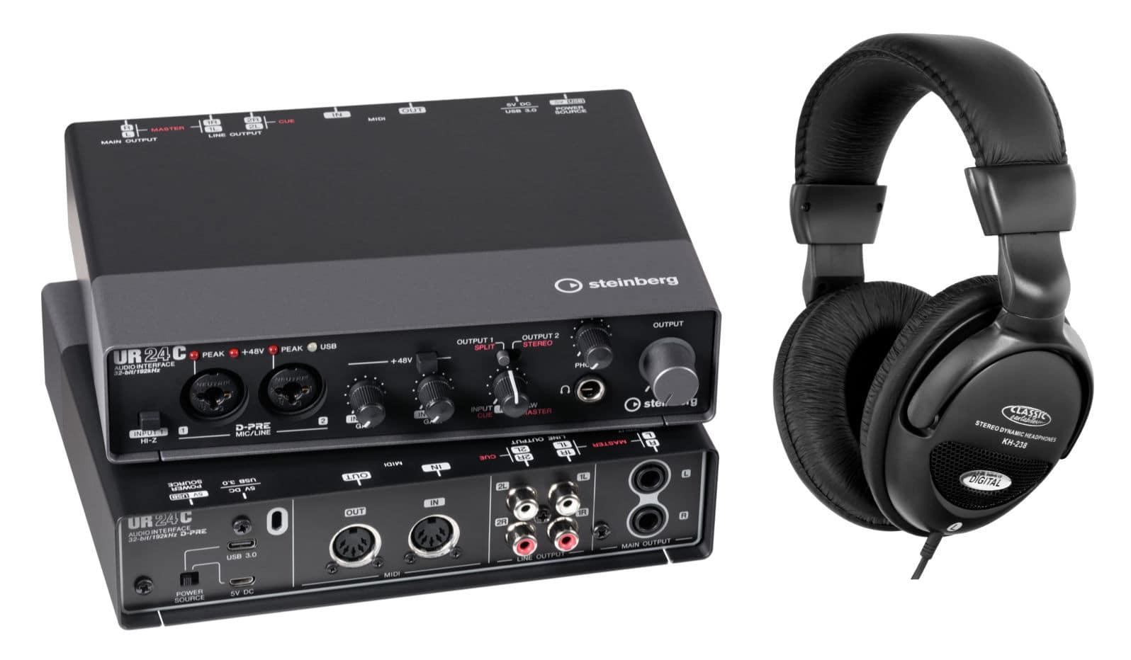 Pchardware - Steinberg UR24C USB Audio Interface Set - Onlineshop Musikhaus Kirstein