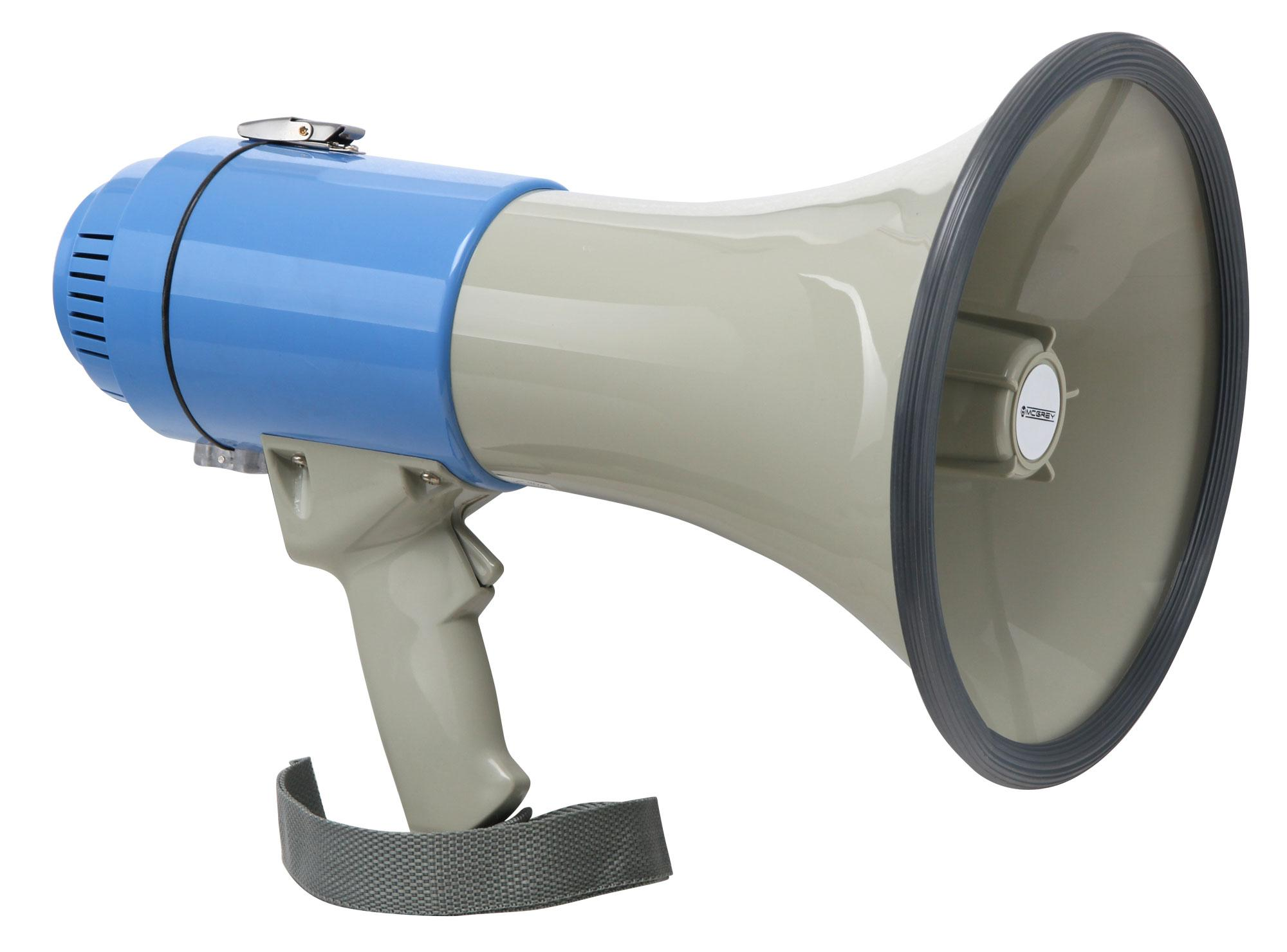 Mikrofone - McGrey MP 200S Megaphon, max. 60 Watt, 1000m - Onlineshop Musikhaus Kirstein