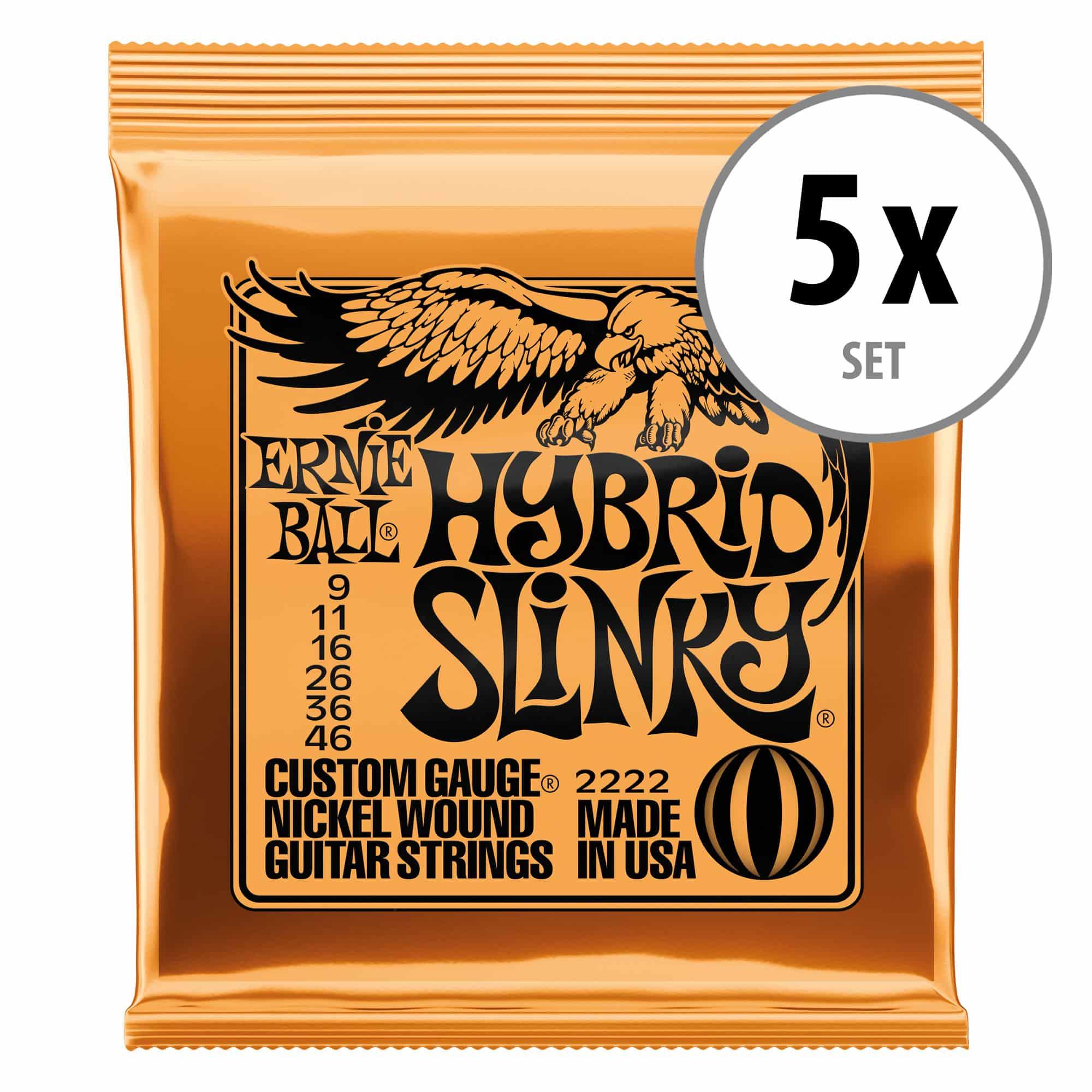 Ernie Ball 2222 Hybrid Slinky 5er Pack
