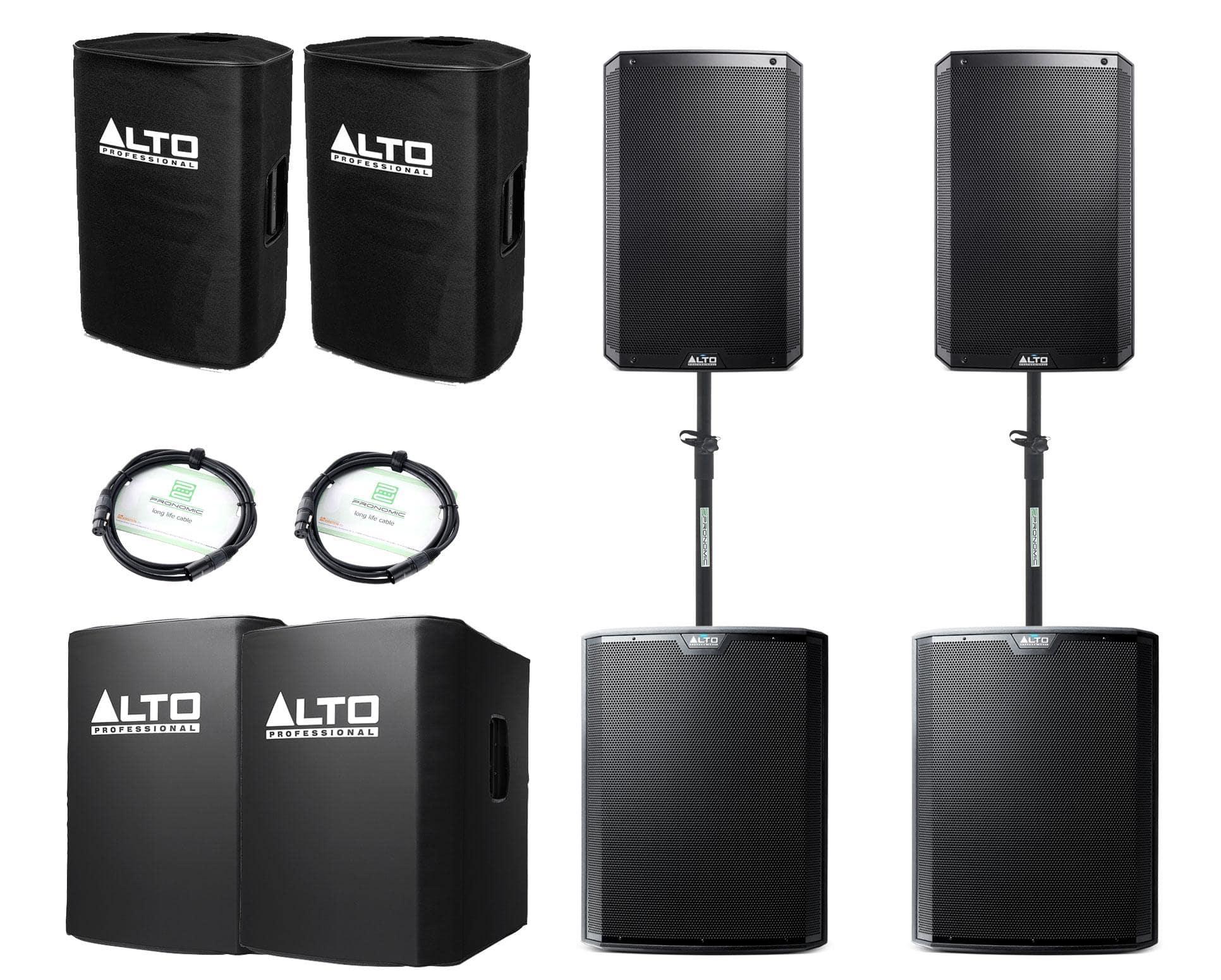 Alto TS215 TS218S Aktivanlagen Set inkl. Zubehör