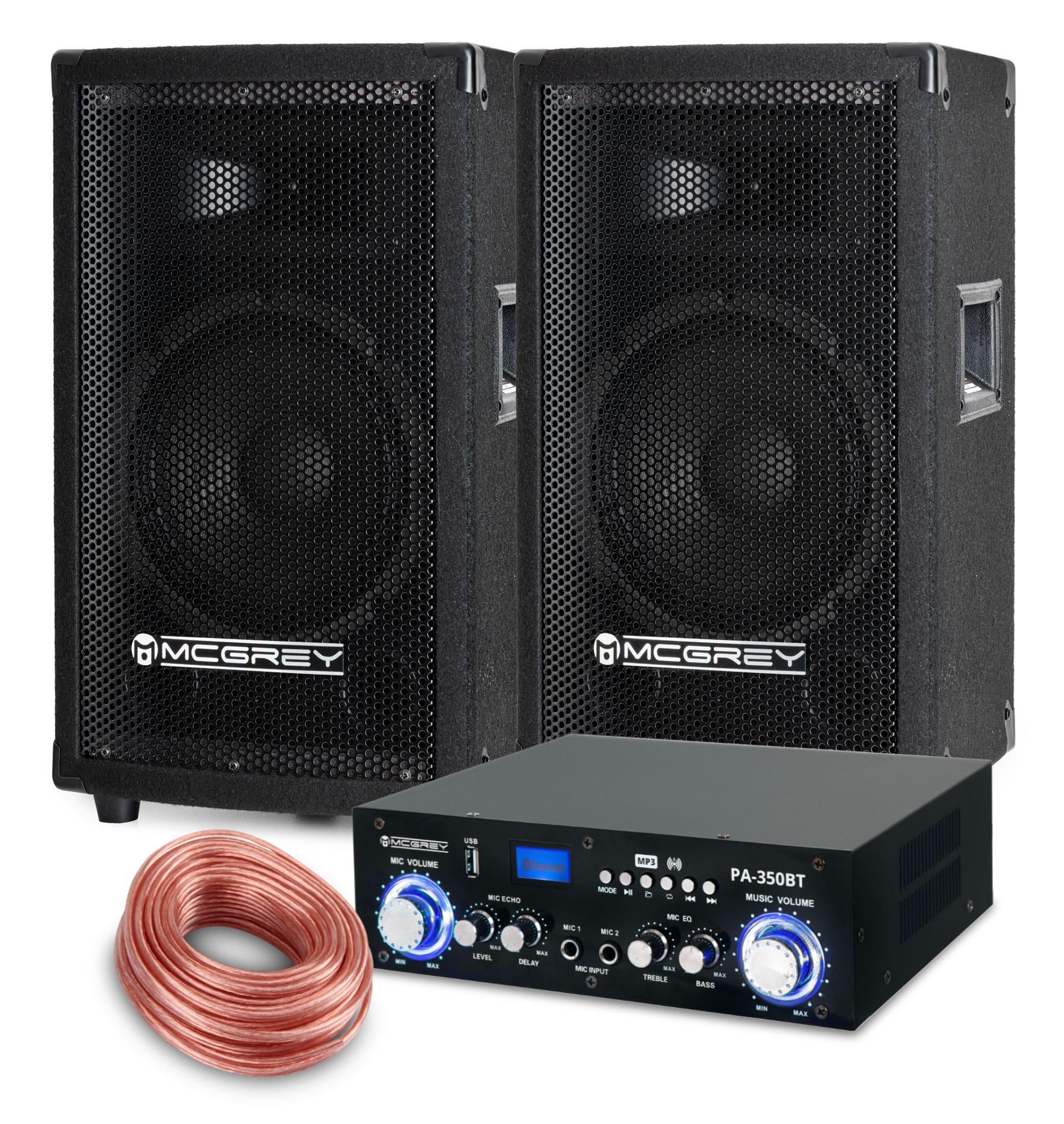 Djkomplettanlagen - McGrey PA Komplettset PowerDJ 1000 600W - Onlineshop Musikhaus Kirstein