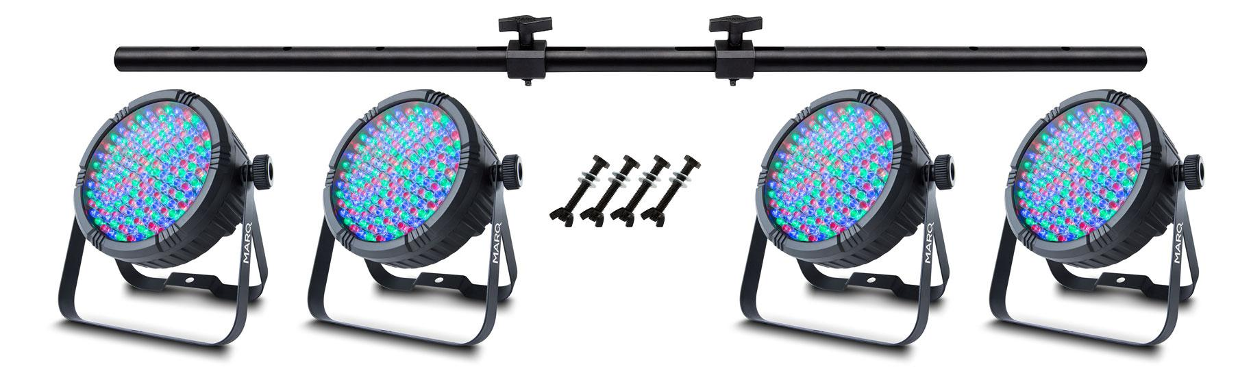 Marq Lighting Colormax PAR64 LED Spot PA Light Rig Set
