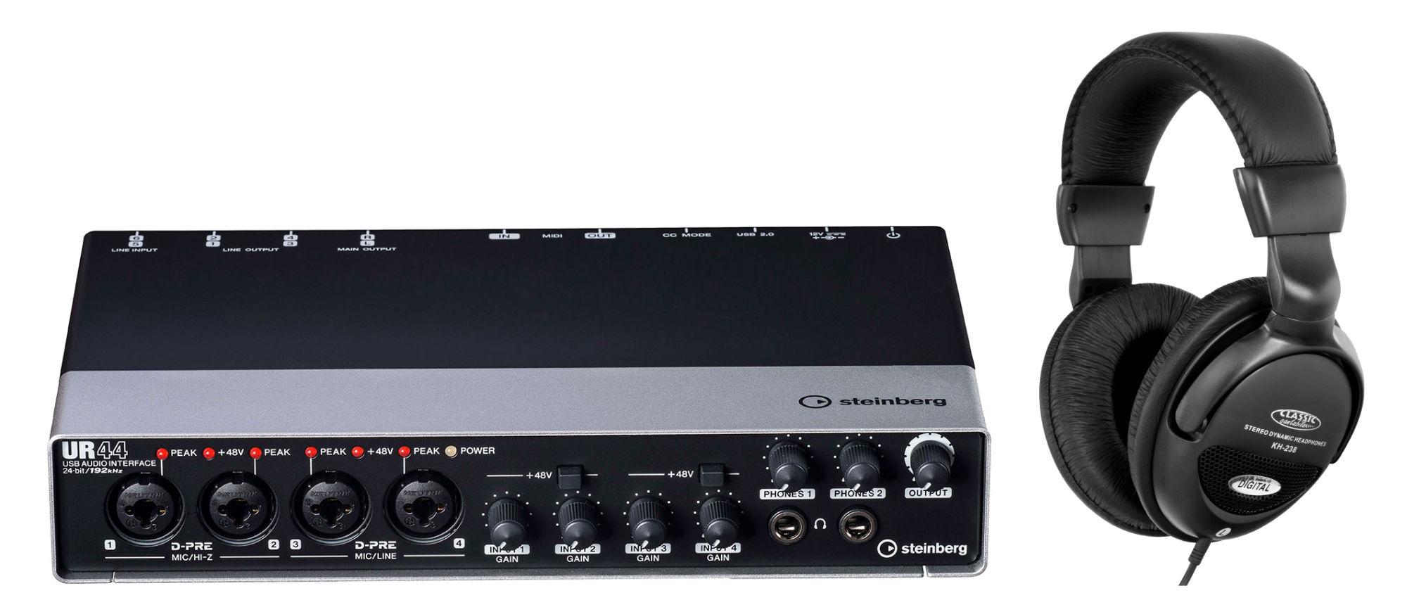 Pchardware - Steinberg UR44 USB Audio Interface Set - Onlineshop Musikhaus Kirstein
