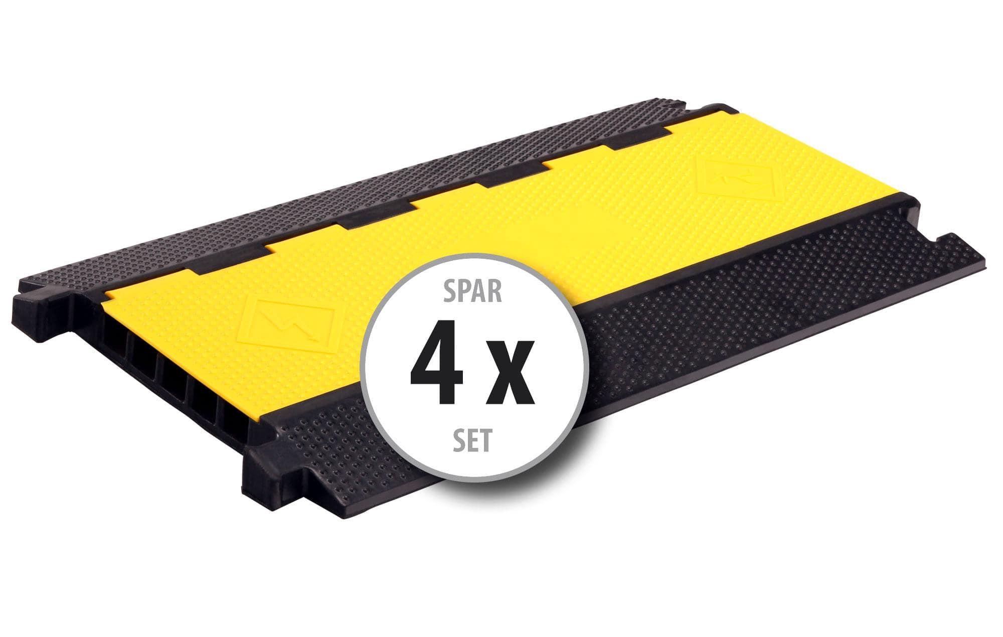 4x Pronomic Protector 5 90L V2 Kabelbrücke 5 Kammer mit Steckverbindung