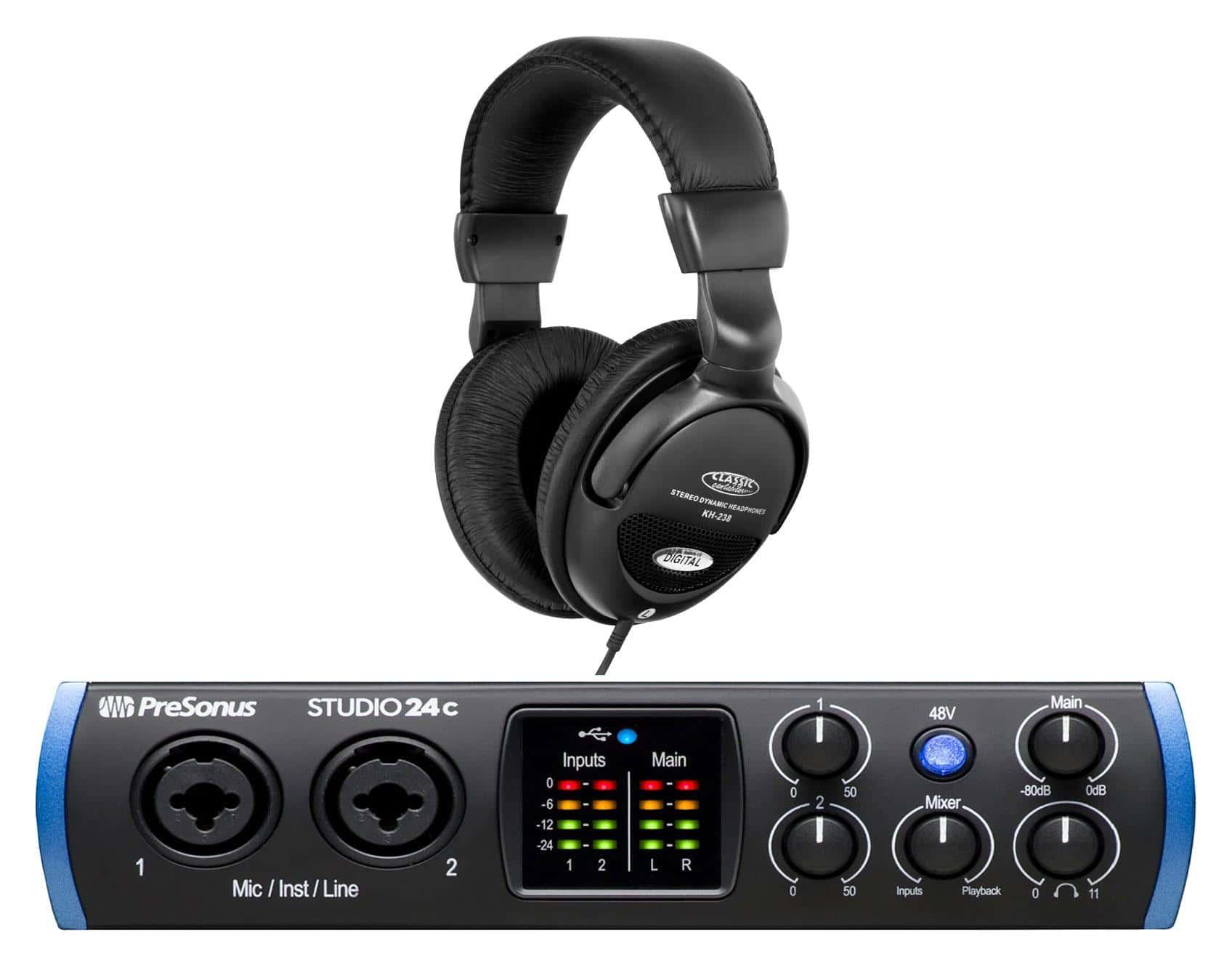 Pchardware - PreSonus Studio 24c USB C Audio Interface Set - Onlineshop Musikhaus Kirstein