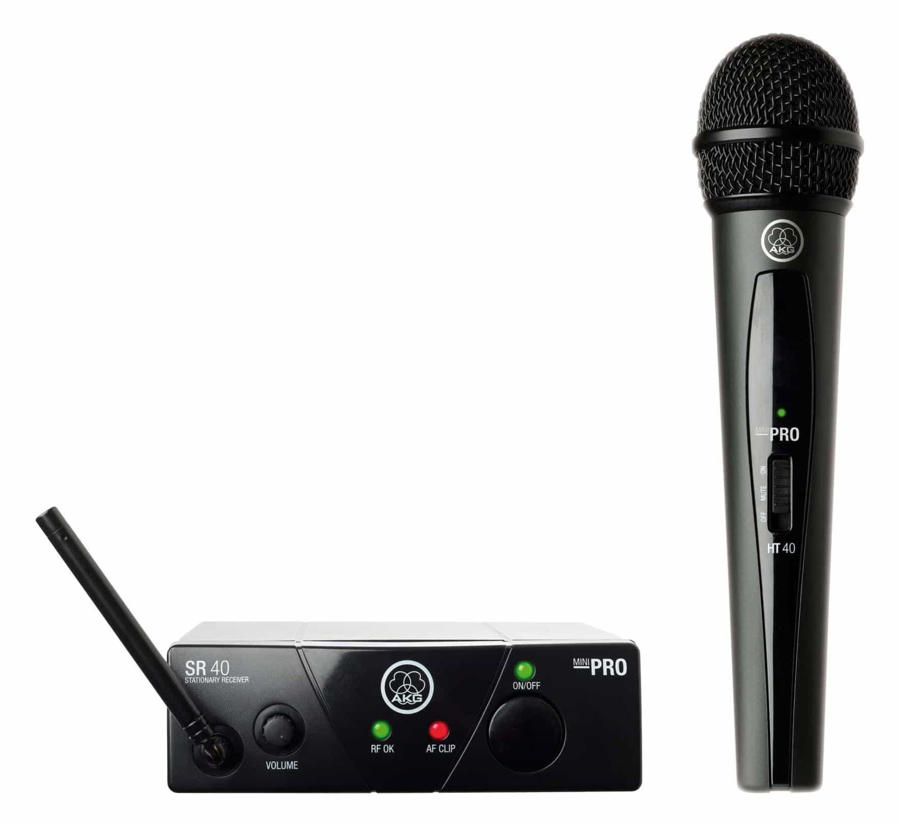 Mikrofone - AKG WMS 40 Mini Vocal Handfunkmikrofon Set ISM2 864,375 MHz Retoure (Zustand sehr gut) - Onlineshop Musikhaus Kirstein
