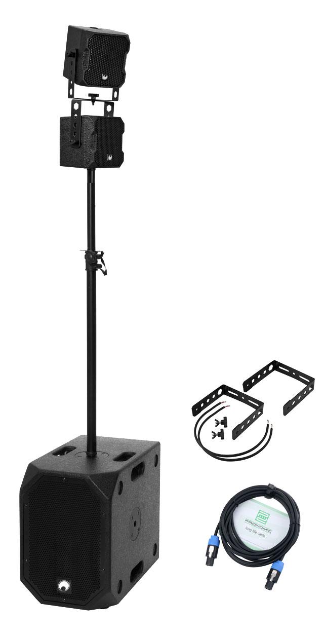 Boxenkomplettanlagen - Omnitronic BOB 2.1 Twin Set Schwarz - Onlineshop Musikhaus Kirstein