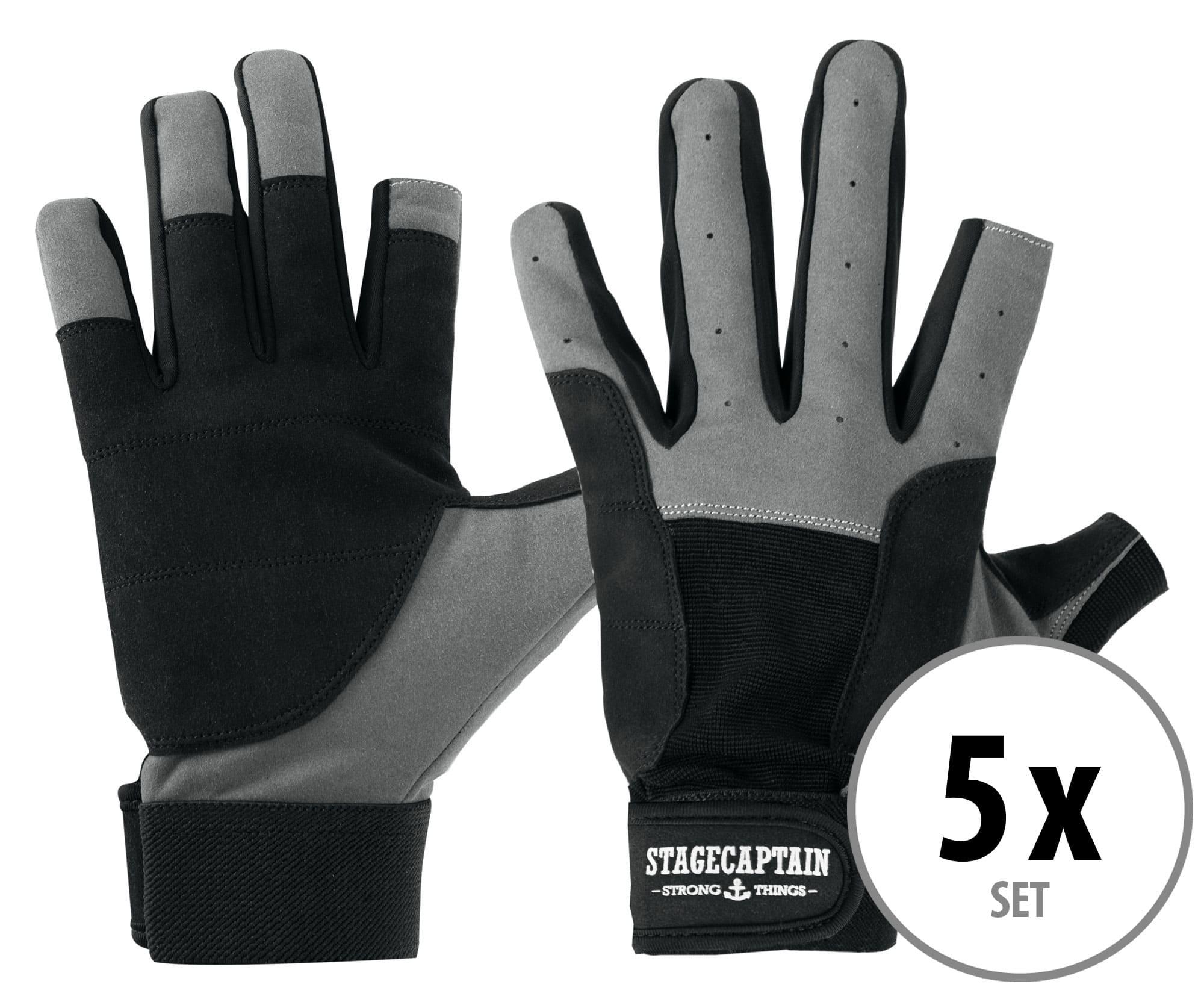5er Set Stagecaptain Rigger Handschuhe M kurz