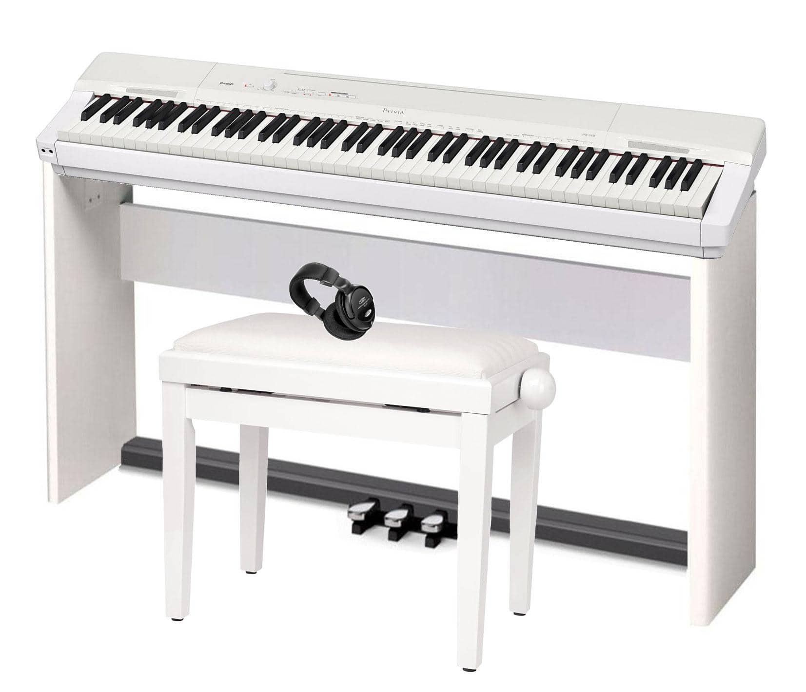 Casio Privia PX 160 WE Portable Piano Deluxe SET white