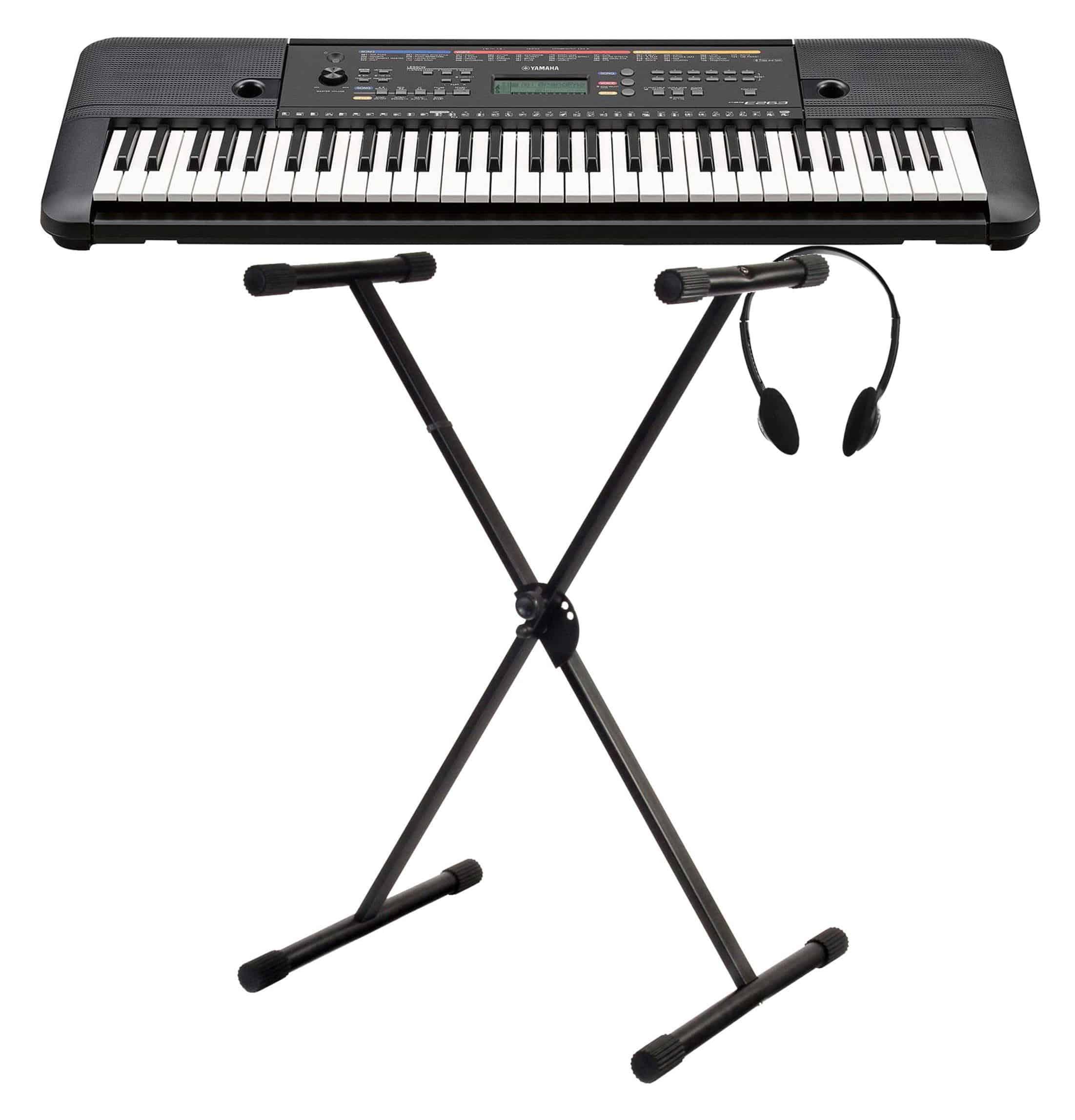Yamaha PSR E263 Keyboard SET mit Ständer und Kopfhörer