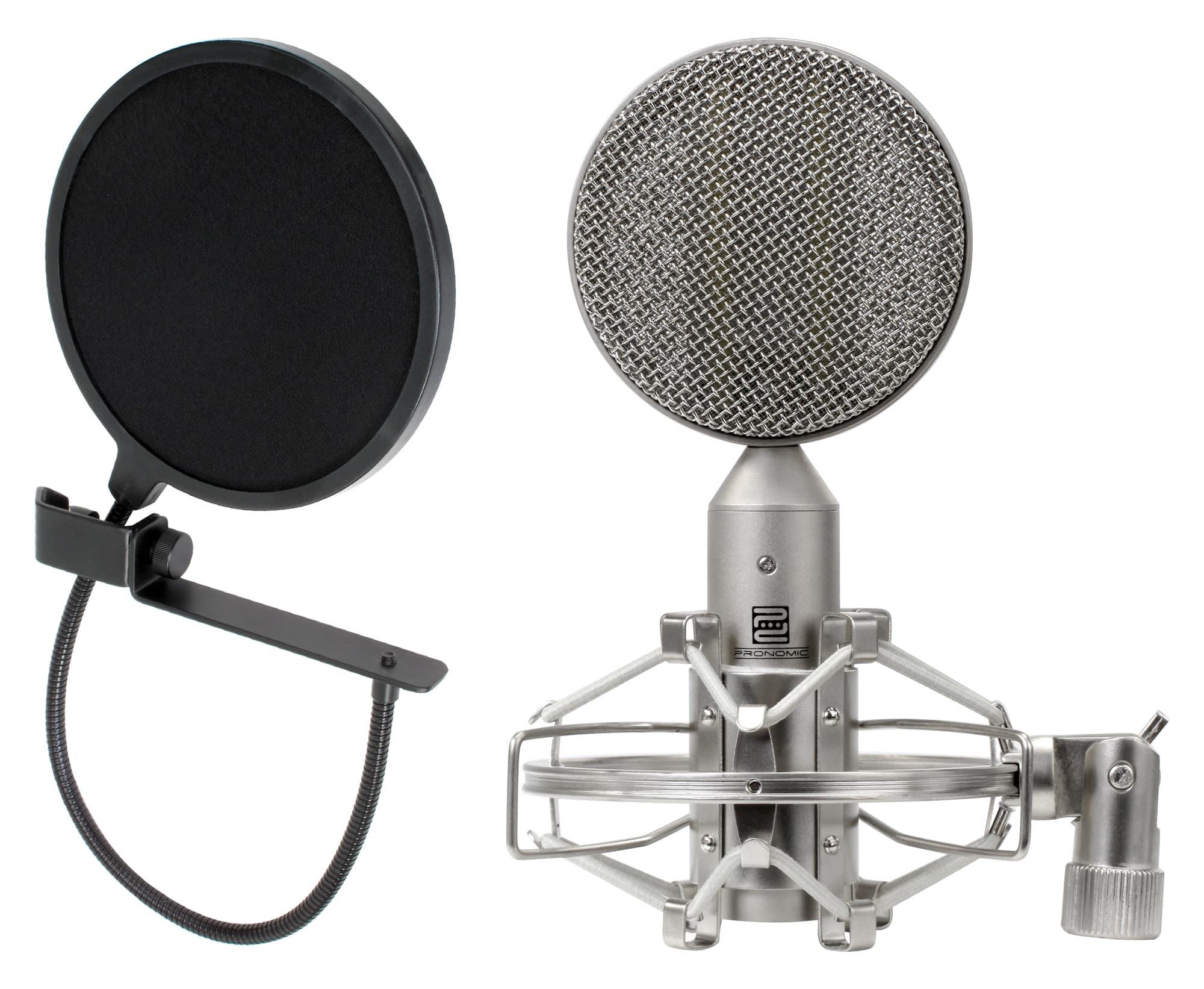 Pronomic RM 1 Bändchenmikrofon SET inkl. Popschutz