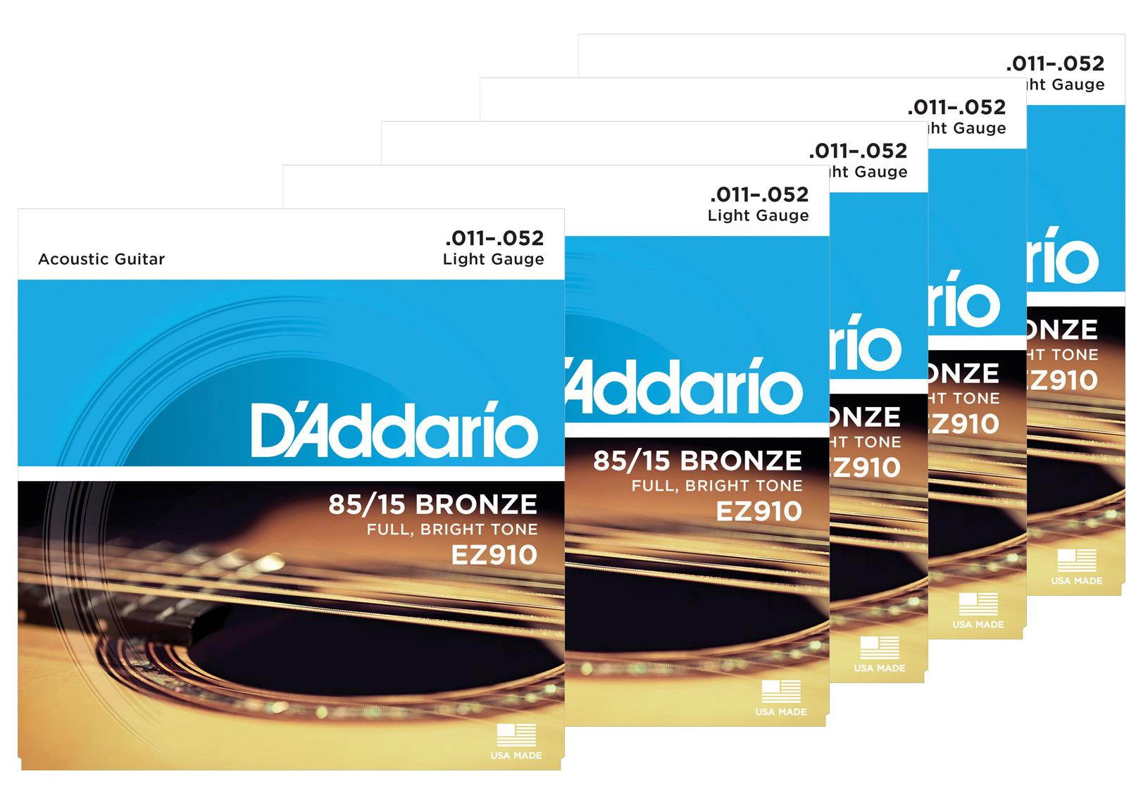 D'Addario EZ910 Light 5er Pack
