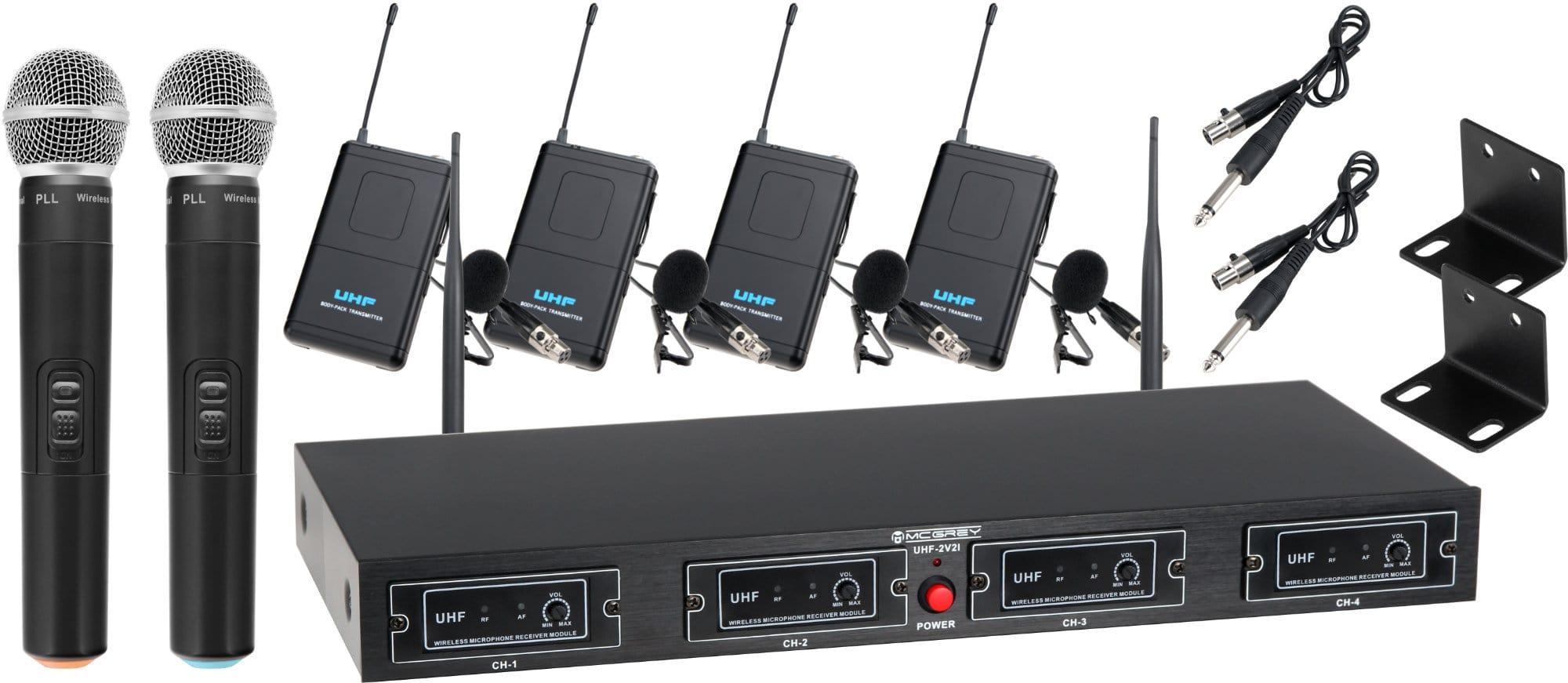 Drahtlossysteme - McGrey UHF 2V4I Quad Funkset - Onlineshop Musikhaus Kirstein