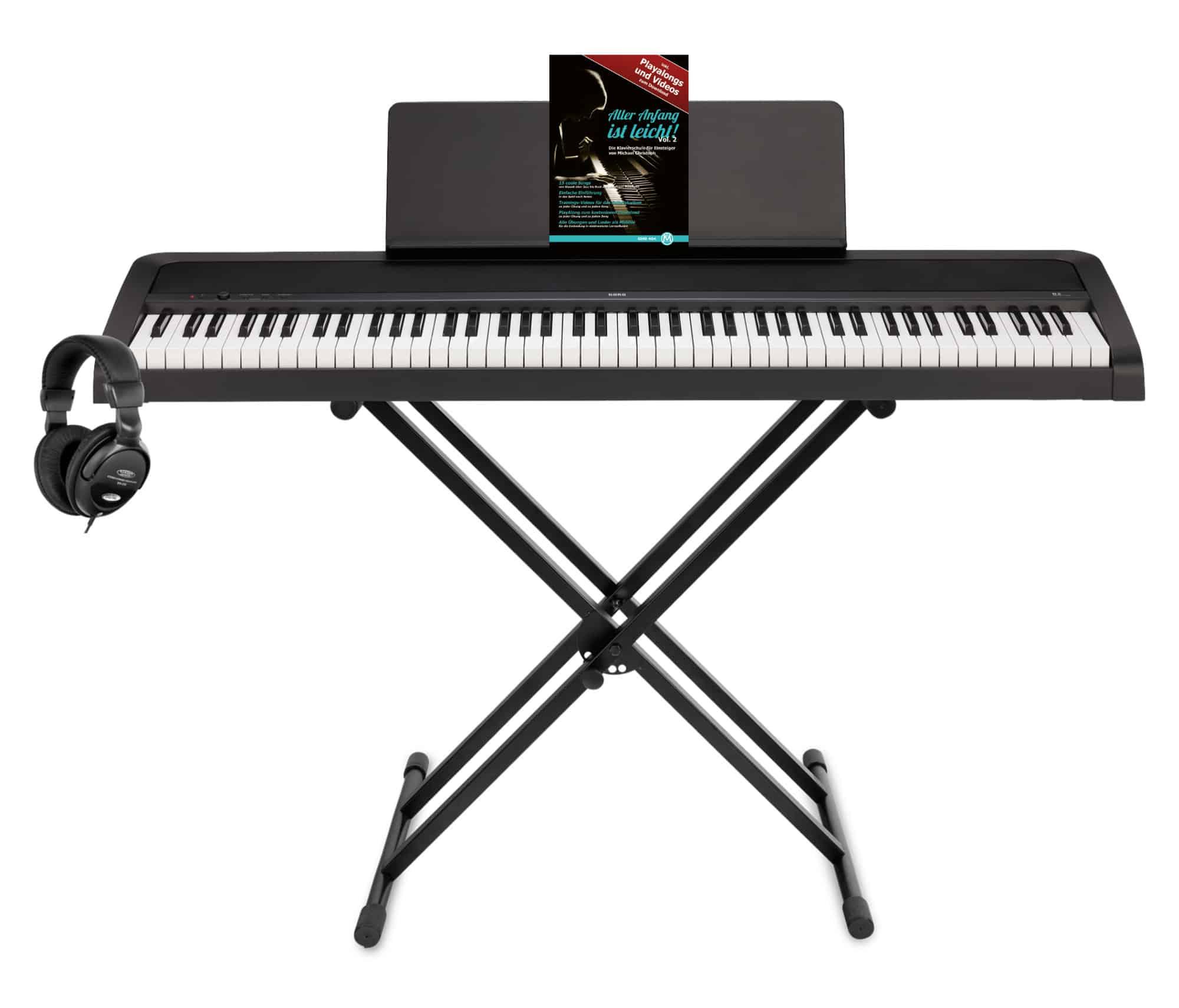 Stagepianos - Korg B2 BK Digitalpiano Set Schwarz - Onlineshop Musikhaus Kirstein
