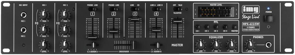 IMG Stageline MPX 622|SW Stereo DJ Mixer