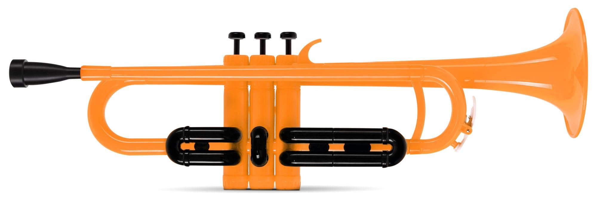 Trompeten - Classic Cantabile MardiBrass Kunststoff Bb Trompete orange - Onlineshop Musikhaus Kirstein